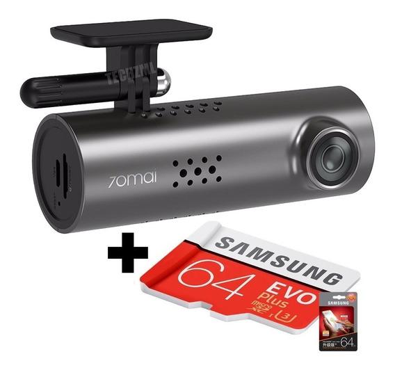 Camera Filmadora Veicular Xiaomi 70mai 1s + Cartão 64gb