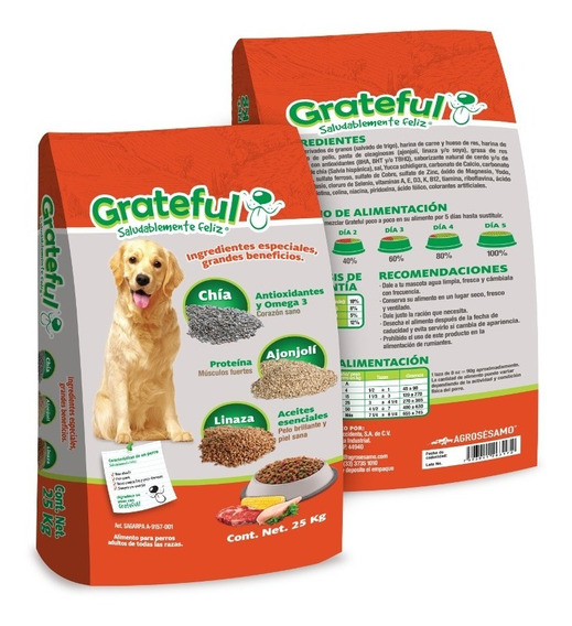 Grateful Adulto 25kg Alimento Para Perro