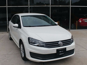 Volkswagen Vento 1.6 L4 Confortline At 2016 Blanco Cd Rines
