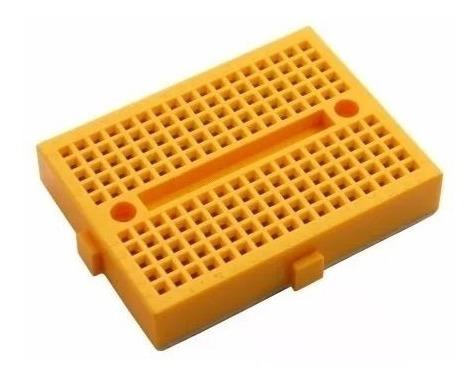 Mini Protoboard Com 170 Pontos, Pic, Arduino (cor Amarelo)