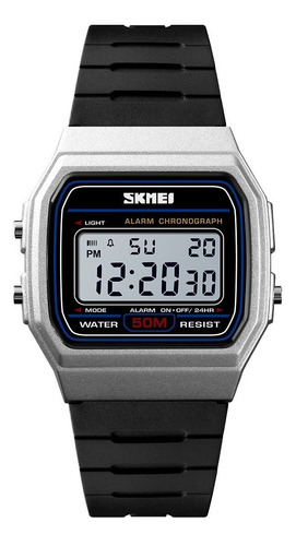 Reloj Plateado Skmei Digital Deportivo Unisex Resiste 50 M