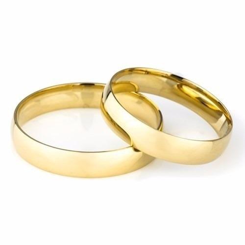 Par Aliança Casamento 4 Mm 4 Grs Em Ouro 18k Frete Grátis