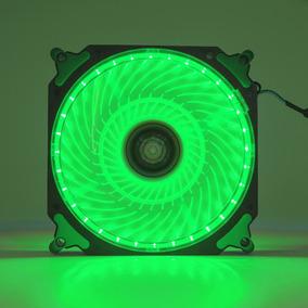 Cooler Fan Pc Gamer 120mm Led Verde Ventoinha Dx-12h