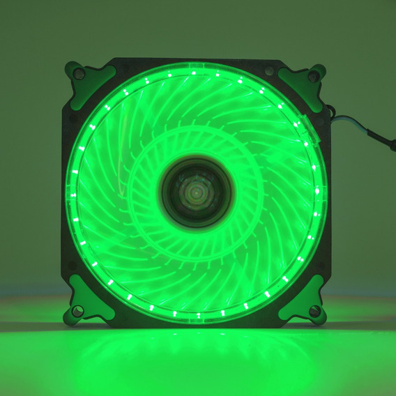 Cooler Fan Pc Gamer 120mm Led Verde Ventoinha Dx-12h