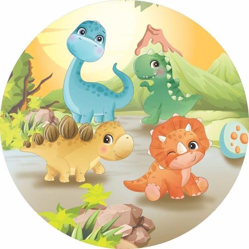 Painel Redondo Tecido 3d Dino Baby Full Wrd-1645 - 1,5 Diâm