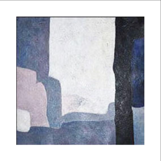 Quadro Pintura Tela Abstrato Cinza Nude Azul 1,5x1,5 Metro