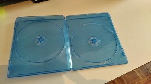 19 Estuches Caja Gruesa Azul Cd's