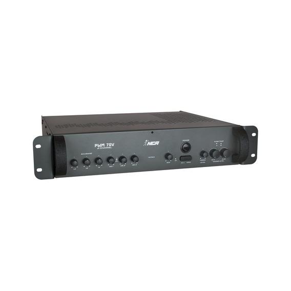 Amplificador Para Som Ambiente 600w 2 Canais Nca Pwm 70v