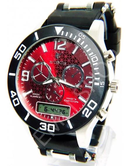 Kit 5x Relógios Luxo Dourado Militar Potenzia Barato+ Caixa