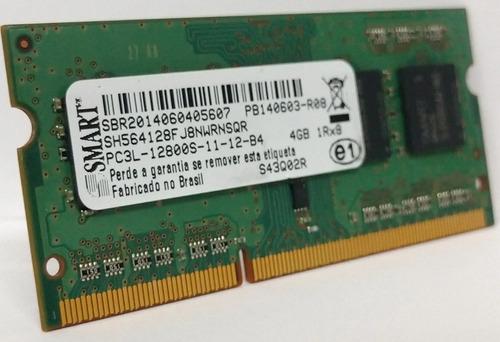 Memoria Notebook Smart Sh564128fj8nwrnsqr 4gb Ddr3l 1333mhz