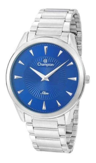 Relógio Champion Masculino Slim Prateado Ca21768f