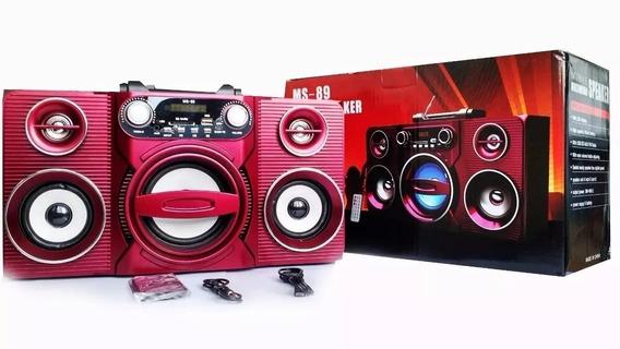 Caixa De Som Portátil Com Bluetooth Radio Fm Ms-89