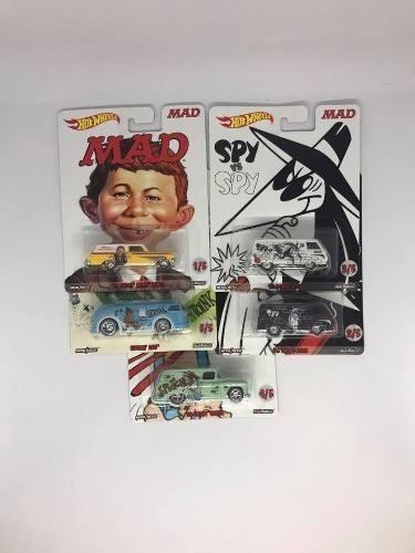 Hot Wheels Pop Culture Mad Magazine Serie Completa De 5 Pzas