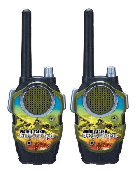 Walk Talk Radio Comunicador Brinquedo Infantil Exercito