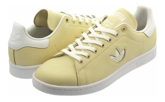Tenis adidas Stan Smith Bd7438 Piel Amarillo Talla 28.5cm
