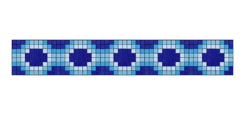 Imagen 1 de 1 de Cenefa En Mosaico Veneciano Rombos Metro Lineal