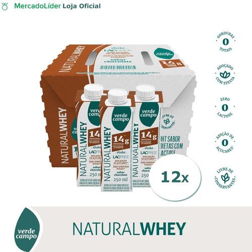 Shake Natural Whey Chocolate 250ml - Pack C/12un