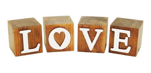 Cubos Love Branco Pinus Luxo