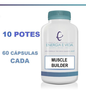 Muscle Builder Potencializador Muscular (10 Unid.) - 600 Cáp