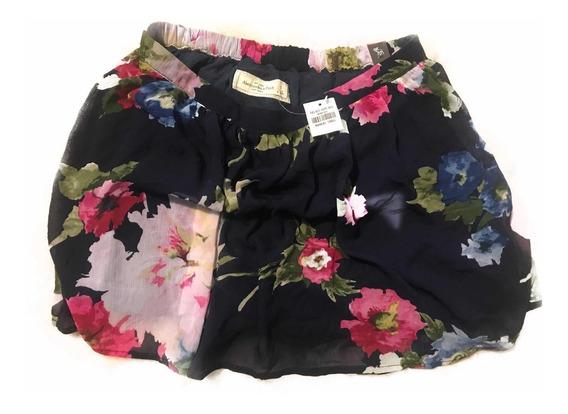 Falda Abercrombie & Fitch Talla S Estampado Floral Yuya