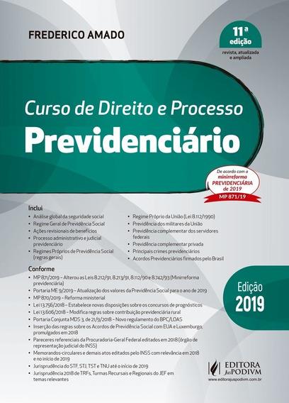 Livro Curso De Direito Previdenciário Francisco Amado 2019
