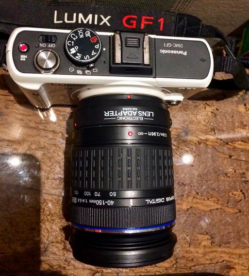 Câmera Lumix Dmc-gf1 Panasonic Micro43 Com Adap Lente 40-150