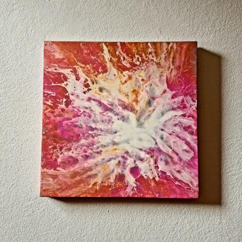 Imagen 1 de 1 de Marmoleado Explosión Cósmica Original Pintura Acrílica