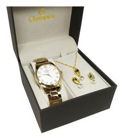 Relógio Champion Feminino Cn29883j Original Com Brinde