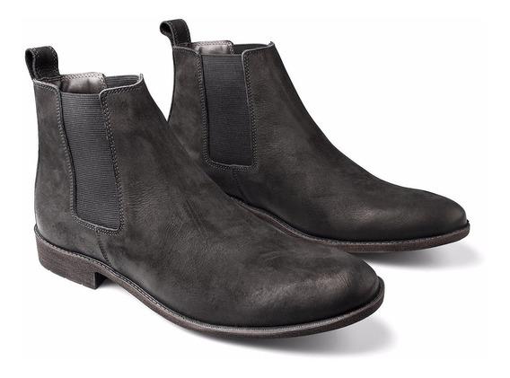 Bota Masculina Chelsea Boots Botina Em Couro Legitimo Luxo