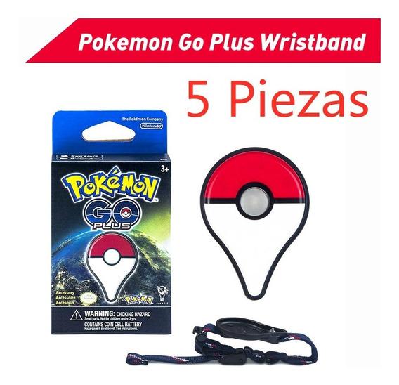 5piezas Pokemon Go Plus Nintendo Pulsera Bluetooth