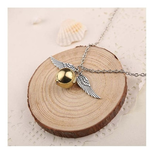 Collar Golden Snitch Dorada Harry Potter Acero Quidditch Ala