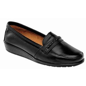 Zapatos Casual Mocasines Florenza Dama Piel Negro 31067 Dtt