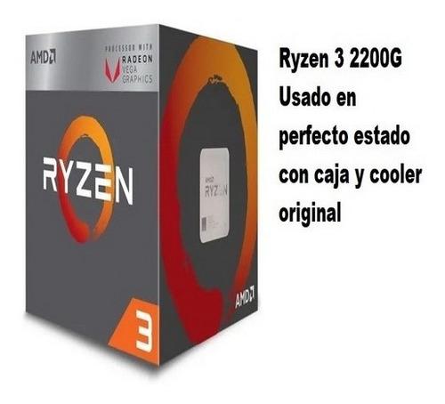 Amd Ryzen 3 2200g Con Gráficos Radeon Vega 8