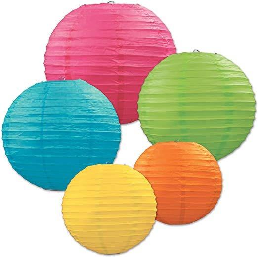 10 Pantallas Chinas 30cm 12´´ Colores Linterna Lámpara Papel