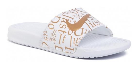 Ojotas Nike Wmns Benassi Jdi Print Blanco 618919116