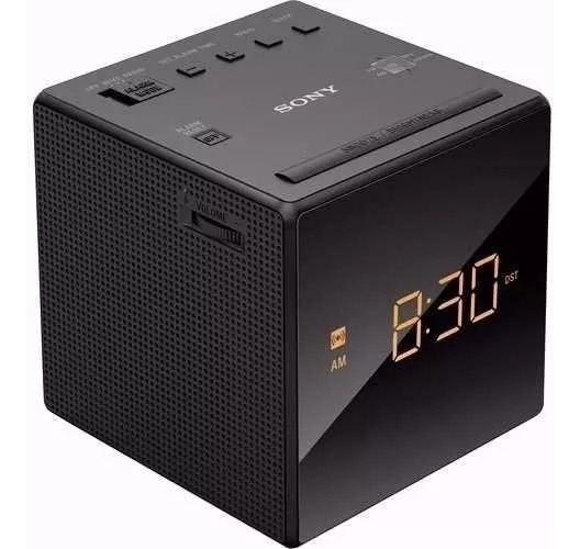 Rádio Relógio Sony Am/fm-led Função Alarmesnooze Icf-c1 127v