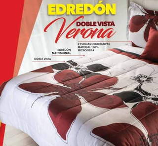 Edredon Verona Matrimonial Doble Vista 100% Poliester