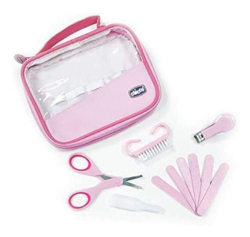 Imagem 1 de 3 de Kit Cuidados E Higiene Do Bebê Com Estojo - Rosa - Chicco