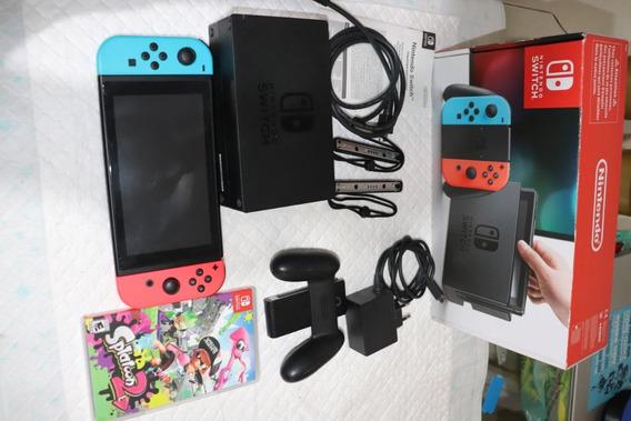 Nintendo Switch 32gb Neon - 3 Jogos