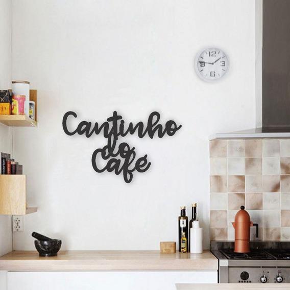 Aplique Palavra Decorativa Cantinho Do Café Mdf Decoração