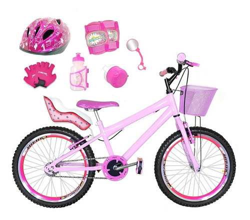 Imagem 1 de 1 de Bicicleta Aro 20 Rosa Bb Kit Aero Pink Completa Cfa3f