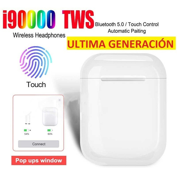 Audífonos Bluetooth I90000 Tws AirPods Ios Android Touch