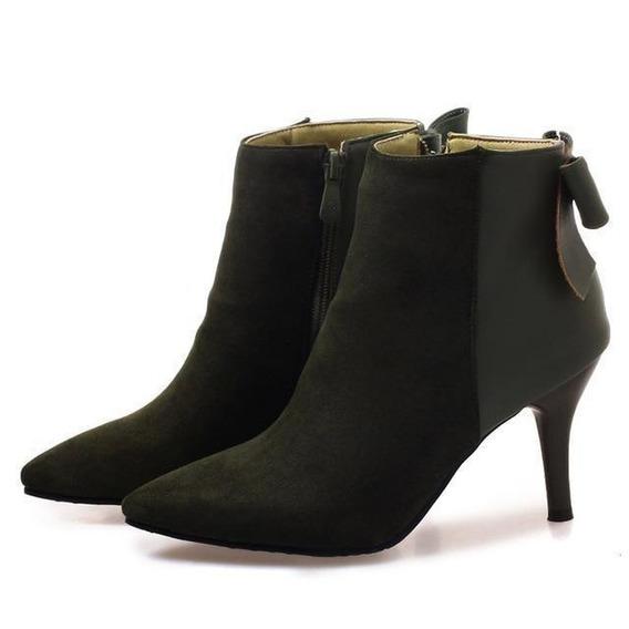 Ankle Boot Feminina Anne Aeng 08350 Importado Frete Grátis