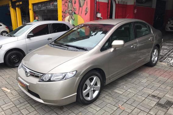 Honda Civic 1.8 Lxs Aut. 4p 2007/2007 Dourado