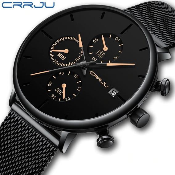 Frete Grátis!!! Relógio Crrju 2268 Cronógrafo Pronta Entrega