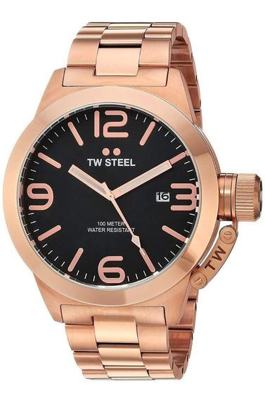 Hermoso Reloj Tw Steel Cb172 Canteen 50mm Oversize Nuevo!