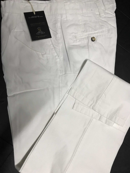 Pantalón Pinzado Corte Clásico Kevingston Original Blanco