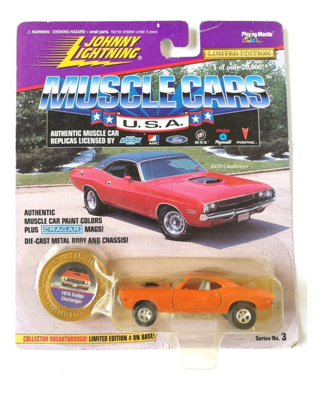 Johnny Lightning Dodge Challenger Muscle Car Metal