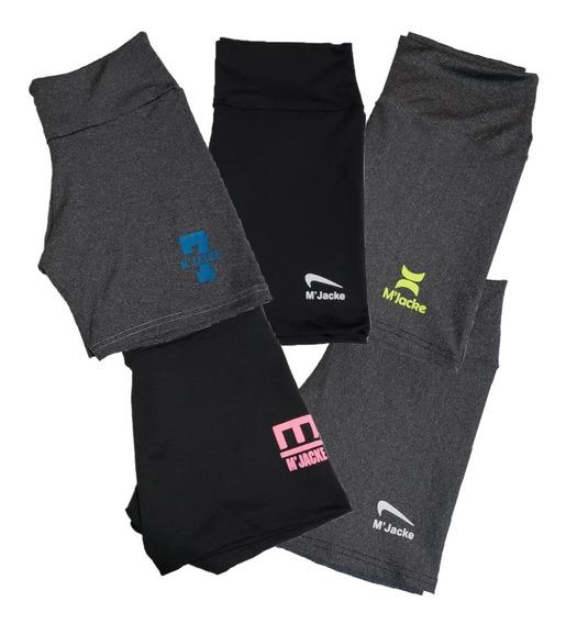 Kit 05 Shorts Feminino Da Moda Academia Fitness