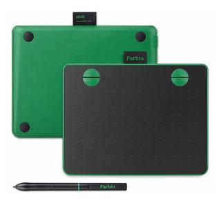 Tableta Digitalizadora Parblo A640 18.3x15cm 8192 Np Verde